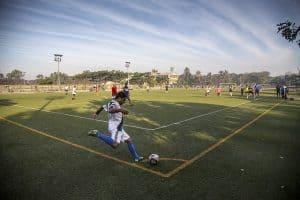 Corner kick soccer match