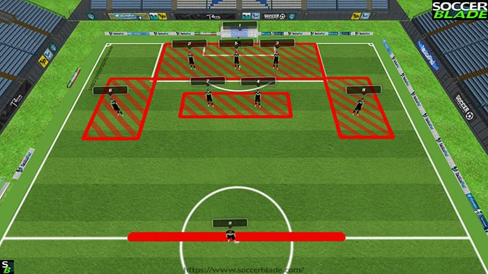 341 defence 2 u12 formation