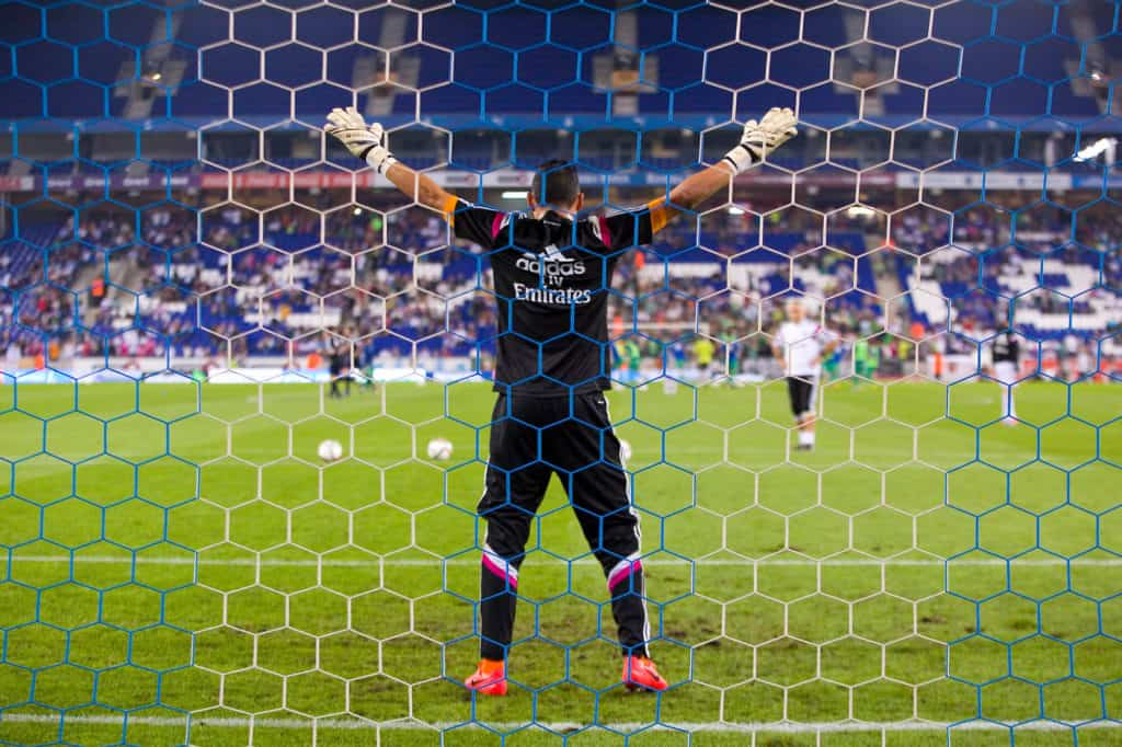 Keylor Navas in Goal For a Penalty Kick - of Real Madrid