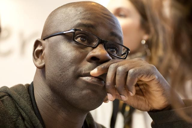 Lilian Thuram wearing glasses