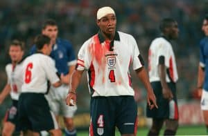 Paul ince bandage and blood