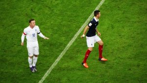 England striker Wayne Rooney and France midfielder Morgan Schneiderlin 23114034985