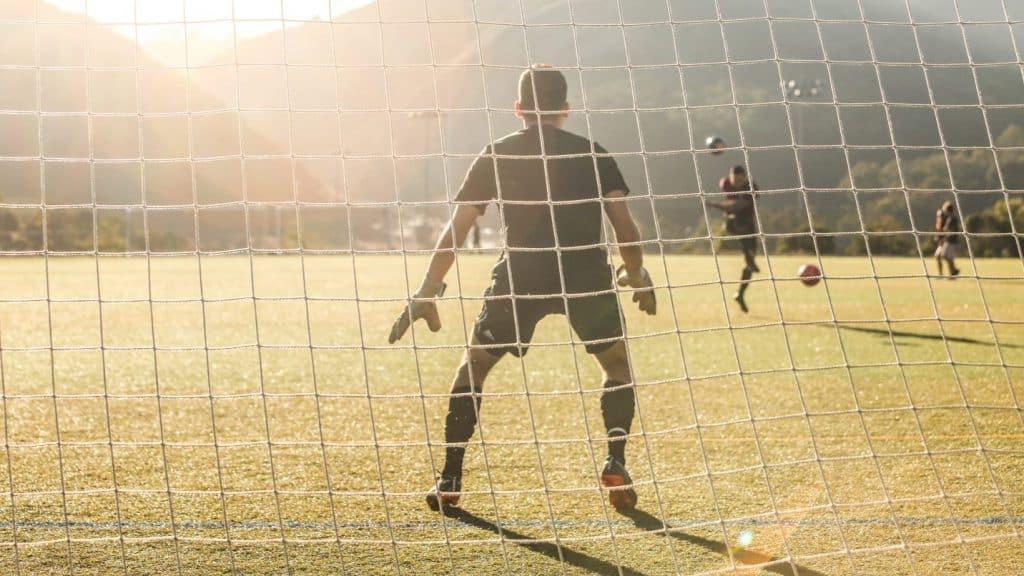 Goalkeeper in goal (How Far Do Soccer Players Run in a Game?)