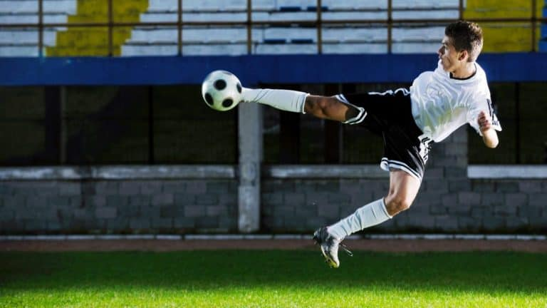 Individual Soccer drill volley