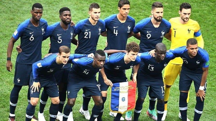 Soccer players numbers pre match France World Cup e1573218874882