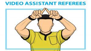 VAR Video assistant referee soccer cartoon