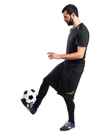 controlling a soccer ball in juggle (Individual soccer drills)