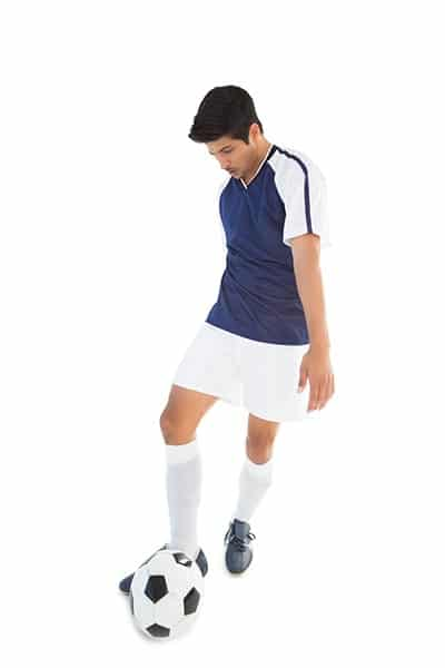 soccer player side foot pass