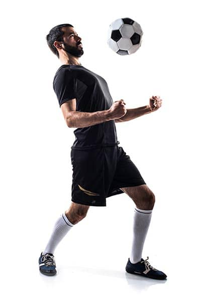 soccer player with open chest to control (Individual soccer drills)