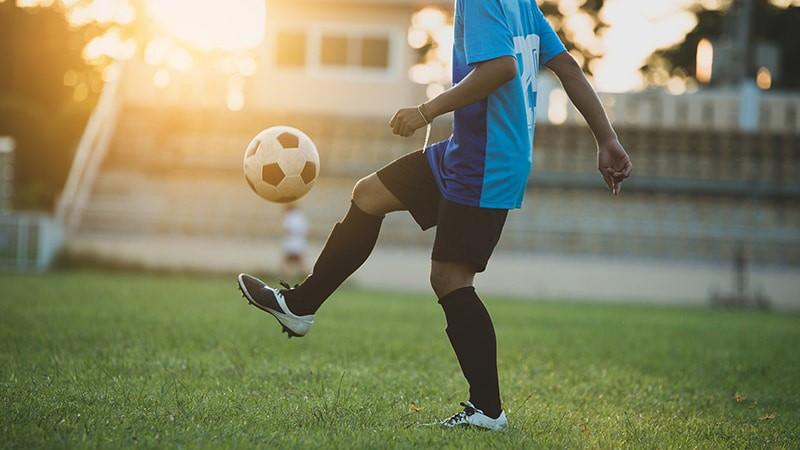 Juggling a soccer ball