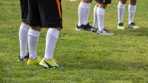 Soccer players big legs muscles