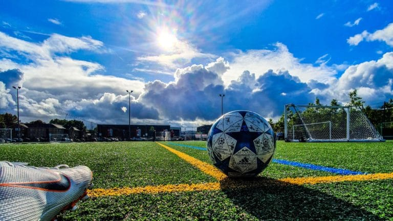 Soccer ball in the sun - Is soccer year-round?