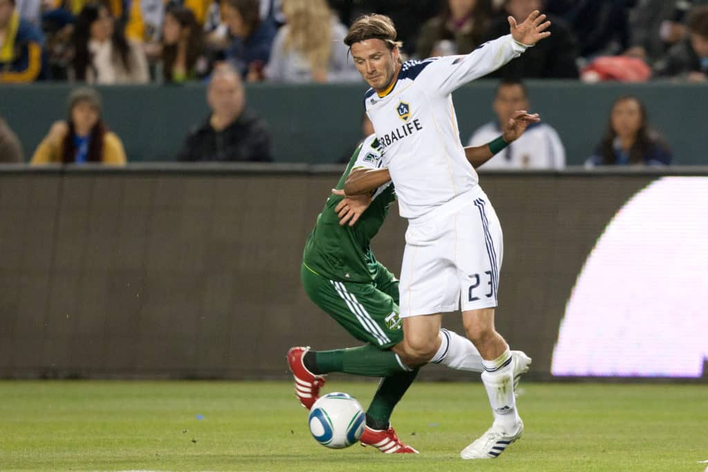 MLS game between the Portland Timbers and the Los Angeles Galaxy