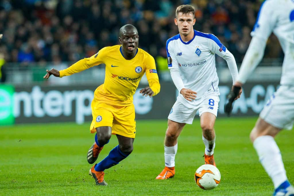N'Golo Kanté - Dynamo Kiev vs. Chelsea in action during the UEFA Europa League round of 1 of 8 (1)