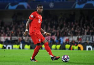 LONDON, ENGLAND - FEBRUARY 26, 2020 David Alaba of Bayern pictured during the 2019/20 UEFA Champions League Round of 16 game between Chelsea FC and Bayern Munich at Stamford Bridge.