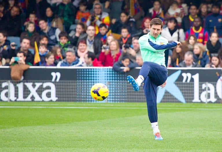 Messi at FC Barcelona training session