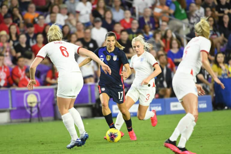USA vs England Match during the 2020 SheBelieves Cup at Exploria Stadium in Orlando Florida on Thursday March 5, 2020