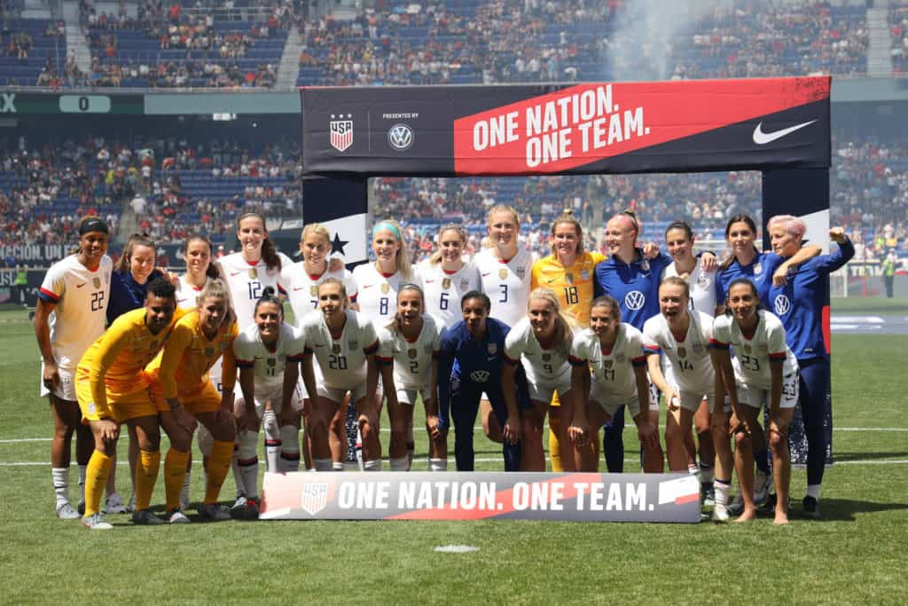 HARRISON NJ - MAY 26, 2019 U.S. Women's World Cup Team Send-Off Celebration for 2019 Womens World Cup on Red Bull Arena in Harrison, NJ. (1)