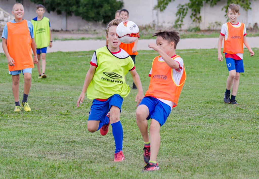 Youth Soccer Players in a Training Session