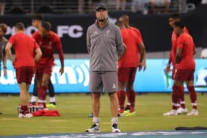 EAST RUTHERFORD, NJ - JULY 25, 2018 Liverpool FC manager Jurgen Klopp before match against Manchester City during 2018 International Champions Cup game at MetLife stadium