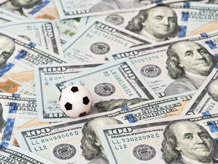 Soccer Ball on Dollar Bills