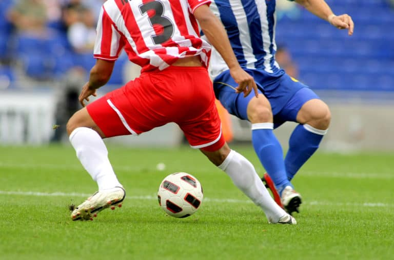Soccer Players In Action - leg muscles and calves