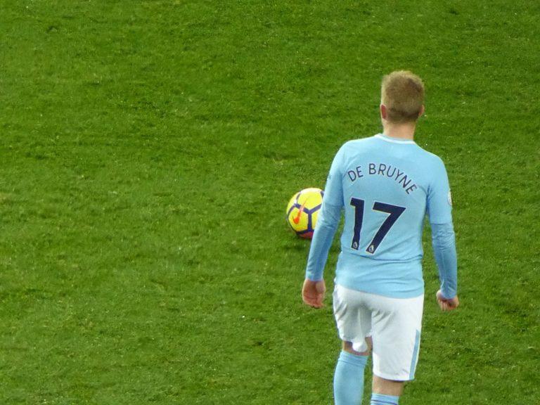 Kevin Bruyne. Manchester United v Manchester City 1 2 Premier League Old Trafford Manchester Greater Manchester England 10 December 2017